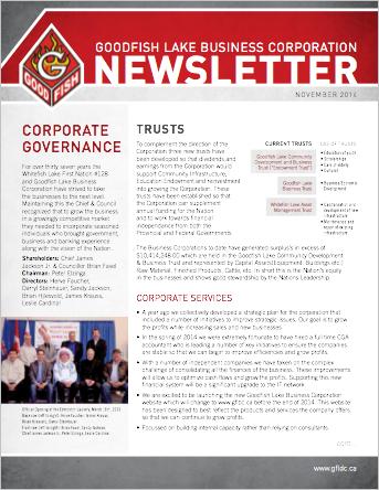 Goodfish Newsletter October 2014